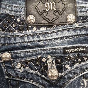 👖Miss Me Jeans Bling Sz 25 Jr Sz 7 👖